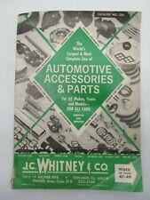 J.C. WHITNEY & CO. CATALOG 1968 255 AUTOMOTIVE CAR PARTS & ACCESSORIES VINTAGE