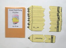 Teacher Made Literacy Center Resource Game Vowel Diphthongs ou & ow