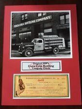 "1930's Coca-Cola Original Check w/ Vintage Photo, 12""x15"" Matted"