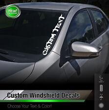 Custom Text Windshield Banner Car Sticker Vinyl Honda Acura JDM Euro Decal 3