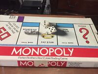Monopoly Board Game Vintage 1975 Parker Brothers Classic Original Box