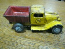 DUMP TRUCK: Child's Toy Cast Iron 1940's Style with WIRE CLIP