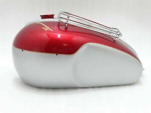 New Fits Triumph T120 Bonneville 3.5 Gallon Cherry & Silver Paint Petrol Tank