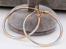 SALE 9ct 9K Gold Filled Prom Girl Lady Medium Hoop Earrings Xmas Birthday E583A