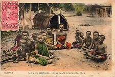 "Belgish Congo to Palestine 1930 TCV ""Children"" Vintage colorful postcard CV9"
