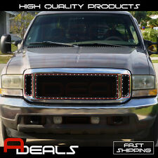 Ford Excursion 1999-2004, F-250/F-350 00-04 Steel Black Mesh Grille Insert