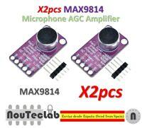 2pcs MAX9814 Microphone Amplifier Board Module Auto Gain Control AGC Electret