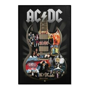 Guitar ACDC  Malcolm Young Angus Young Rock Music Area Rugs Home Decor