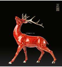 17'' top brass copper fine workmanship home decor good fortune animal sika deer