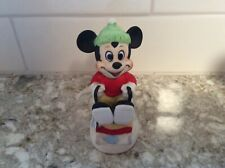 Walt Disney Production Mickey Mouse Figurine on a Sled Ceramic