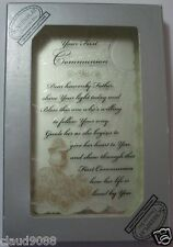 Your First Communion Mirrored Message Plaque & Communion Remembrance Bookmark