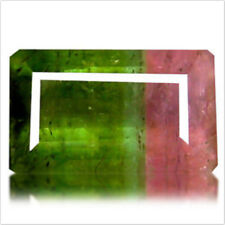 2.33 cts Natural Octagon-cut Pink Green VS Watermelon Tourmaline (Mozambique)