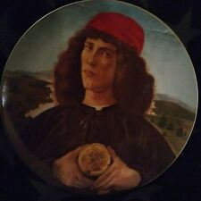 Anna Perenna Rosenthal Collector Plate Botticelli Man with Medal Limited 1980