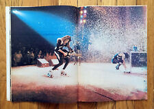 HIT PARADER Magazine KISS 1976 feature article w/ poster. Led Zeppelin Cover