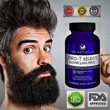 NATURAL FACIAL HAIR BEARD GROWTH FAST GROW MUSTACHE EYEBROW 5000 MCG HAIR LOSS