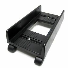 Adjustable PC Carrier Desktop Cpu Moving Stand Tower Computer Cart Rack Black