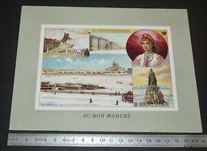 GRAND CHROMO 1906 + AU BON MARCHE BOUCICAUT PARIS ST PETERSBOURG NEVA CATHERINE