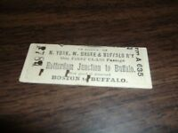 NEW YORK WEST SHORE AND BUFFALO TICKET ROTTERDAM JUNCTION TO BUFFALO
