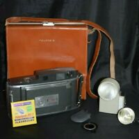 VTG Polaroid Electric Eye Land Camera Model 900 + Leather Case + Accessories