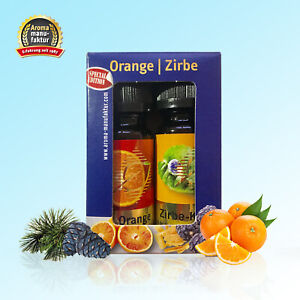 Duftöl 2er Set á 10 ml Orange - Zirbe AromaManufaktur