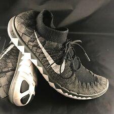 2202979f123d4 RARE🔥 Nike Free Flyknit 3.0 Black Midnight Fog 636232-002 Running Shoes 9.5