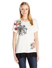 Beige Medium Desigual TS Oporto T-shirt Donna (crudo 1001)