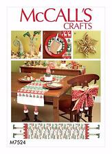McCalls Crafts SEWING PATTERN M7524 Christmas Decorations