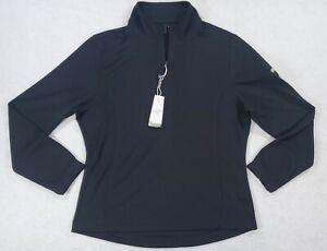 Callaway Womens Sz Large 1/4 Zip Ben & Jerry's Logo Black Mid-Layer Pullover New