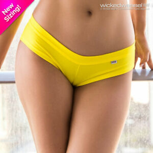 DISCONTINUED Wicked Weasel Sexy Stretch Cotton Sunshine Yellow 518 Shorts