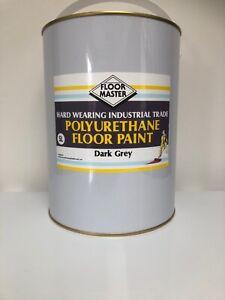 FLOOR MASTER GARAGE/WORKSHOP FLOOR PAINT 5LT DARK GREY Used By the Professionals