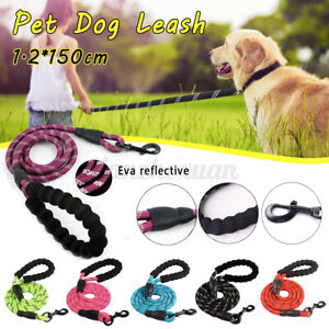 Dog Pet Lead Rope Strong Training Slip Leash Handle Reflective Outdoor