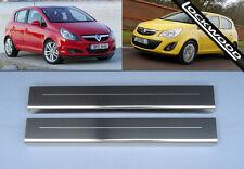 Vauxhall Corsa D (2006 - 2014) 5 Door Stainless Sill Protectors / Kick Plates