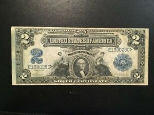 USA  2 Dollars 1899  -- Silver Certificate
