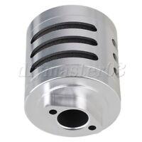 Silber N10193 Aluminum Alloy Tuningteile Luftfilter Schwammeinsatz f
