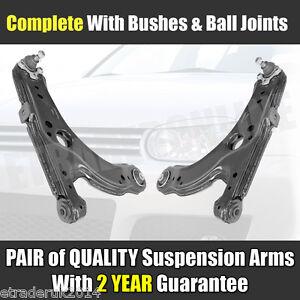 VW GOLF MK4 WISHBONES Inc TDi GTi FRONT LOWER  ARMS Inc BALL JOINTS Quality X 2