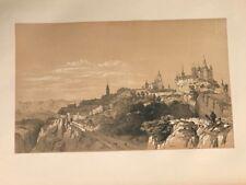 Segovia Alcazar catedral .George Vivian, litografia original.Londres 1838