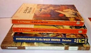 5 Books Horatio Hornblower C S Forester Midshipman Ship of the Line West Indies