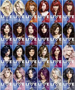 3x Schwarzkopf Professional Live Intense Colours   Permanent Hair Dye   Free ...