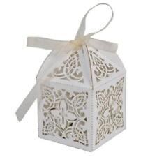 Baptism or Christening First Communion Elegant Decorative Cross White Favor Boxe