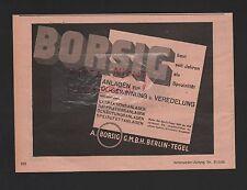 BERLIN-TEGEL, Werbung 1929, A. Borsig GmbH Öl-Gewinnungs-Anlagen