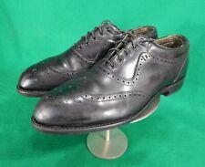 vintage FootJoy wingtip black leather golf shoes 10.5 C  63657A