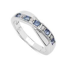 Anillos de joyería con gemas de oro blanco tanzanita diamante