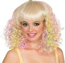 Pastel Curl Wig Blonde Curly Fancy Dress Up Halloween Adult Costume Accessory