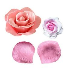 3D Fondant 2Pcs Veiner Rose Petal Flower Silicone Cake Mould Sugarcraft Mould