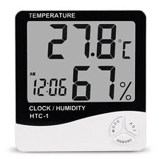 Thermometer Digital Lcd Hygrometer Temperature Humidity Meter Alarm Clock New
