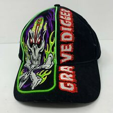 GRAVEDIGGER Adjustable Strapback Hat Black Purple Silver Devil Halloween NWOT