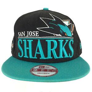 San Jose Sharks Hat 9Fifty New Era Logo NHL Hockey Baseball Snapback Trucker Cap