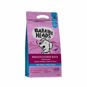 Barking Heads Dry Dog Food for Small Breeds Natural Free Run Duck 1.5kg Bag