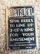 Original Daval Marvel Cigarette Trade Stimulator Metal Name Instruction Card