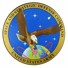 AUTOCOLLANT STICKER MILITARIA US ARMY - SPACE AND STRATEGIC DEFENSE COMMAND